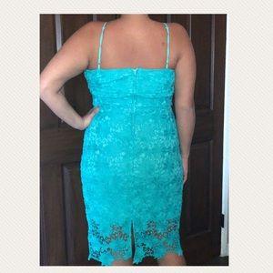 Bisou Bisou Dresses - Teal lace dress